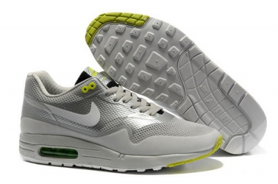 Nike Air Max 1 Hypefuse Unisex Gray Green Running Shoes Inexpensive