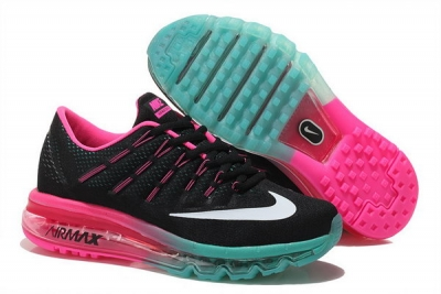 Womens Nike Air Max 2016 Shoes Pink Black Factory