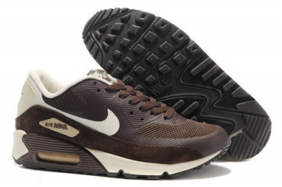 Nike Air Max 90 Hyperfuse Unisex Brown White Running Shoes Ireland
