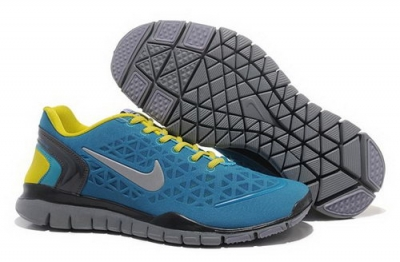 2012 Nike Free Run Tr Fit Men Shoes Blue Yellow Best Price