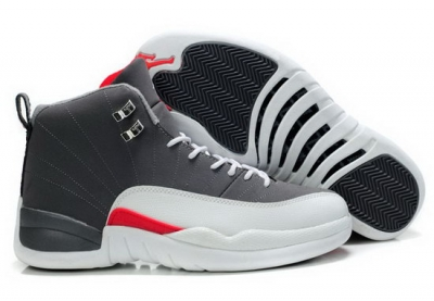 Air Jordan Retro 12 Grey White Red Poland