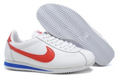 Nike Classic Cortez Nylon Mens Shoes White Red Fur Czech