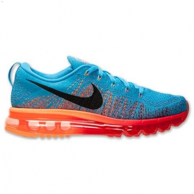 Nike Flyknit Air Max Mens Shoes Blue Black Orange Factory