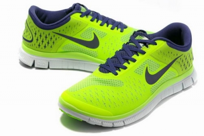 Nike Free Run 4.0 Mens Fluorescence Green Outlet Online