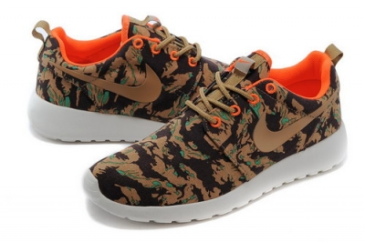 Nike Roshe Run Mens & Womens (unisex) Floral Brown Green Outlet Store