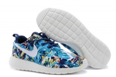 Nike Roshe Run Womenss Shoes Olympic Blue Floral Canada