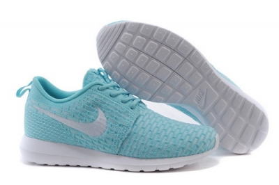 Womens Nike Flyknit Roshe Run Jade White Outlet Online