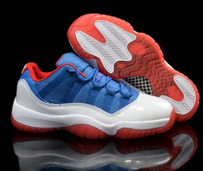 Air Jordan Retro 11 Low Blue White Red Factory Outlet