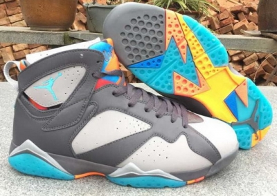 Air Jordan Retro 7 Grey White Jade Norway